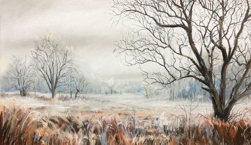 800x462 How To Draw A Winter Landscape With Pastels