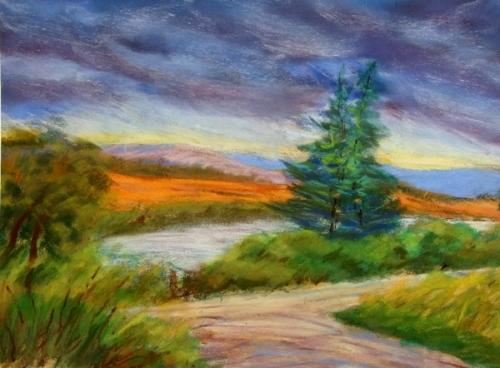 500x368 Landscape Drawing Paul Beranek Impressionism Unit