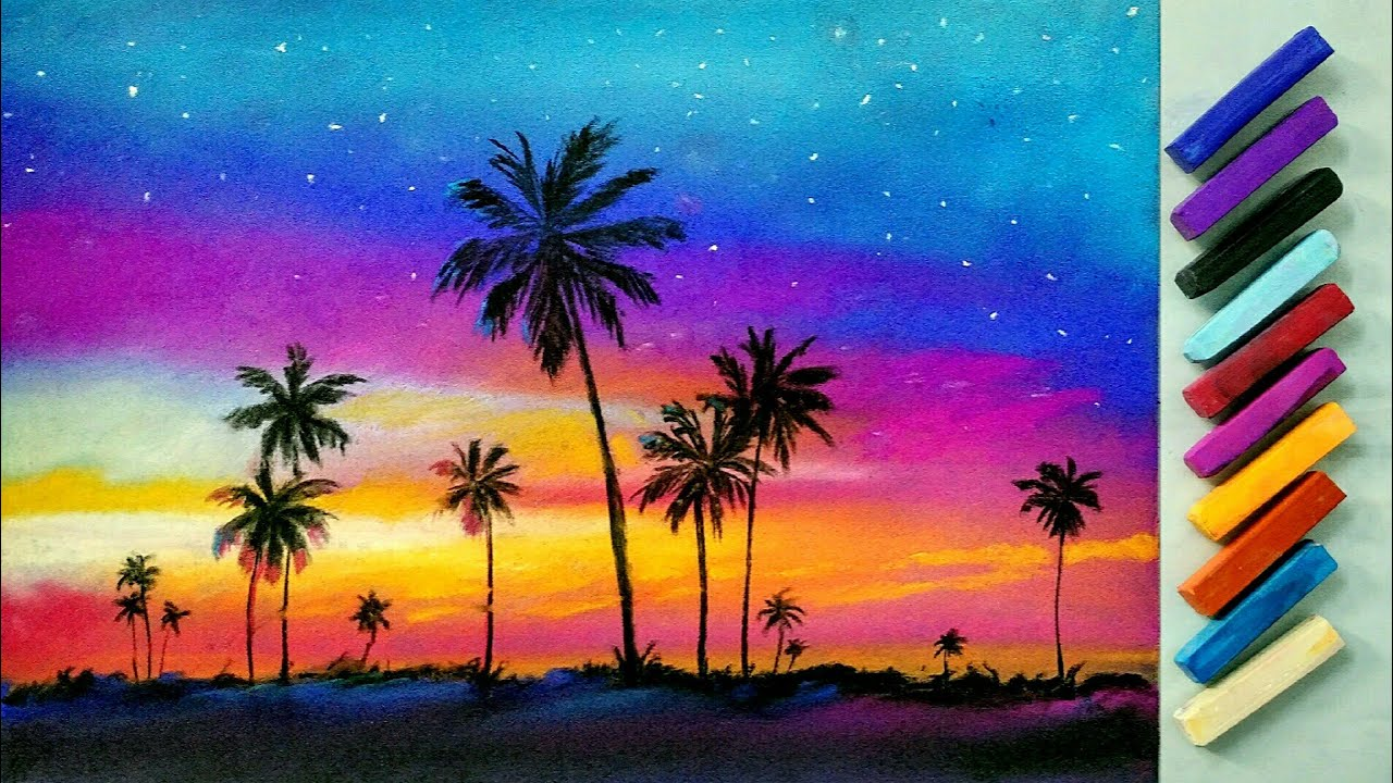 1280x720 Landscape Drawing For Beginners With Soft Pastels