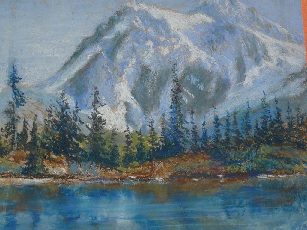1024x768 Pictures Pastel Landscape Drawing,