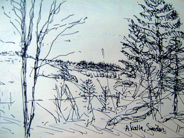 640x480 Landscape Drawing 1 Chilling Out In Sweden Suz Landscape