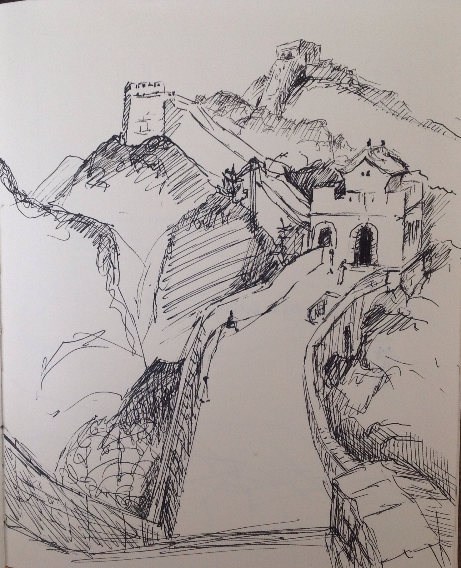 1475x1818 Michelle Mendez Artwork Great Wall Of China Badaling Original