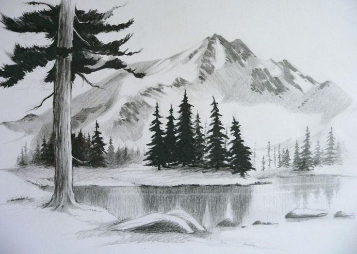 736x524 easy landscape pictures to draw easy pencil drawings of landscapes