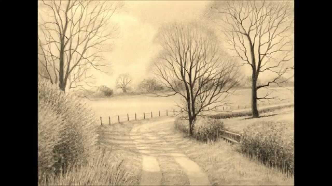1280x720 Landscape Pencil Drawings