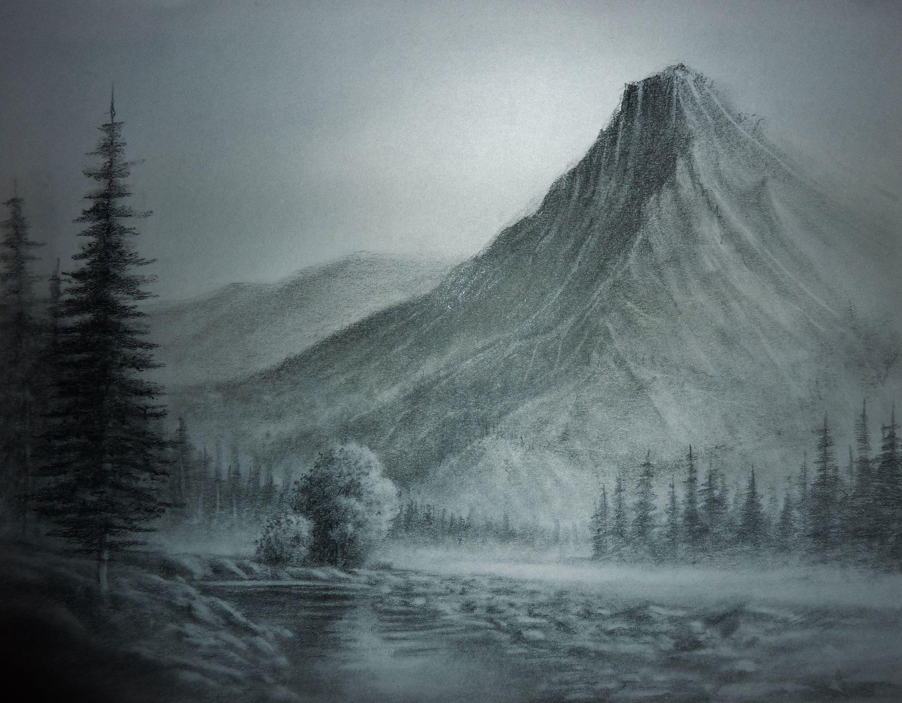 1837x1431 pencil drawing landscapes landscape pencil drawings trees