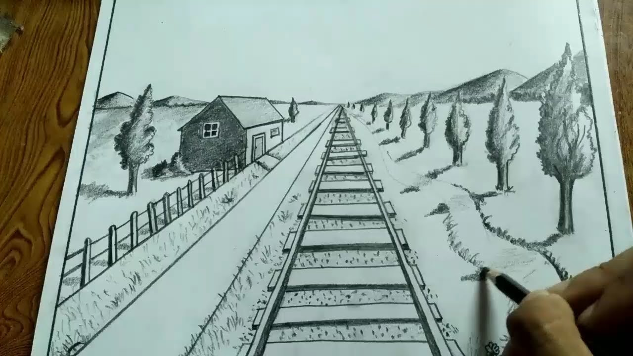 1280x720 How To Draw Landscape Using 1 Point Perspective Drawing