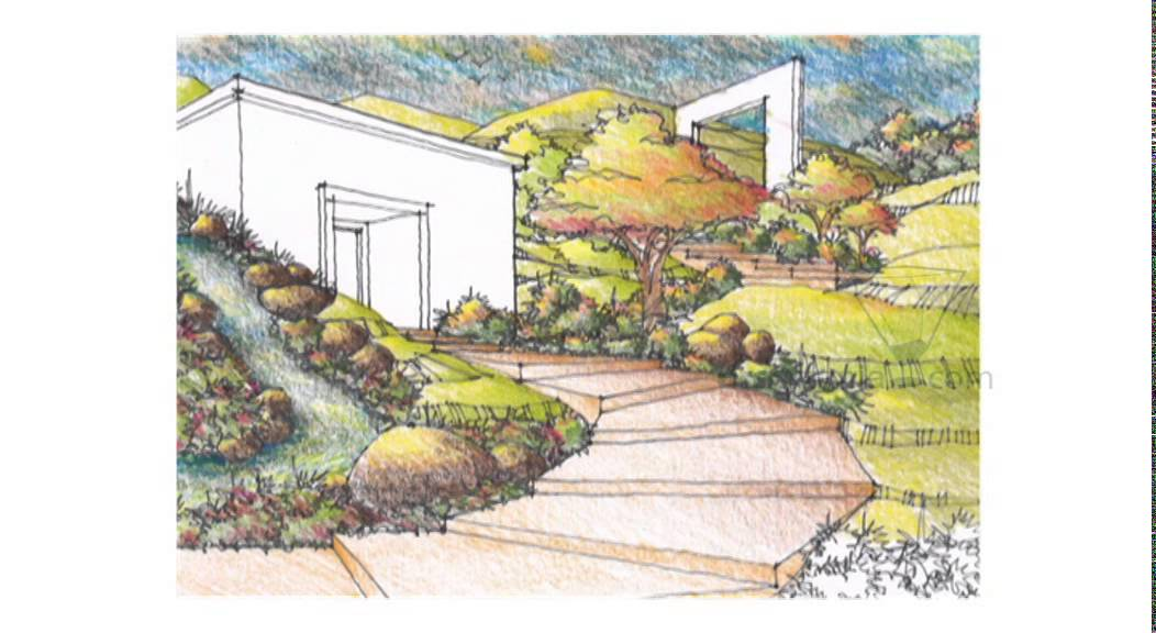 1052x576 Perspective Drawing 088 Draw Landscape Scenery Mp