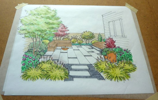 550x350 Tips From A Landscape Designer Garden Perspective Drawing