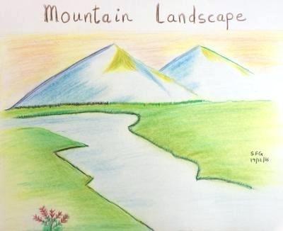 400x326 landscape simple drawing drawing landscapes simple landscape