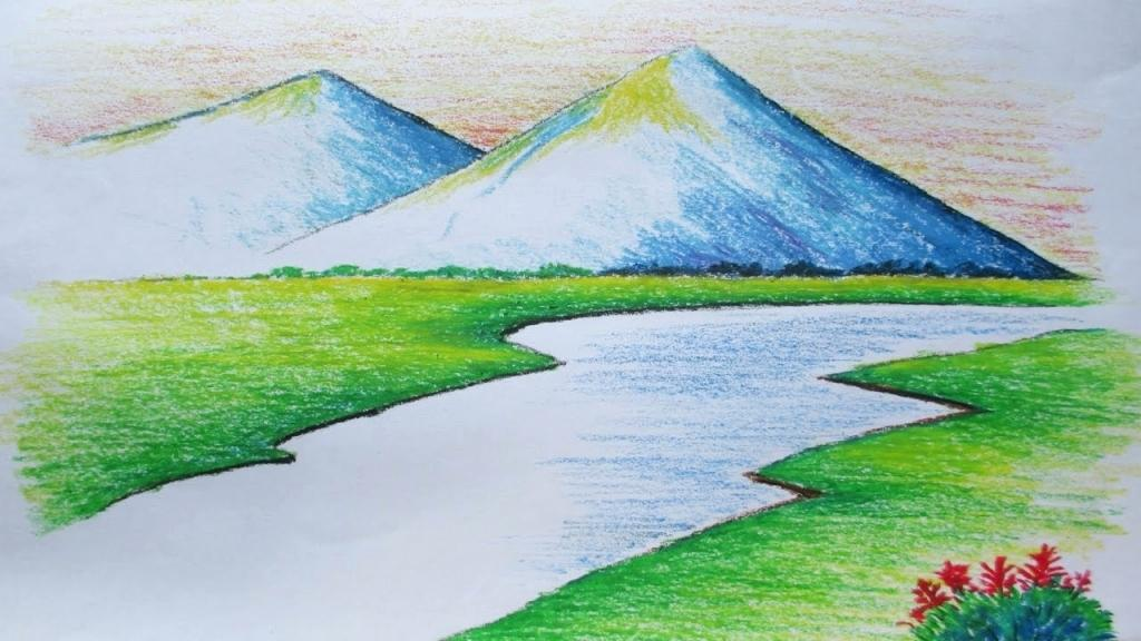 1024x576 simple landscape drawings drawing a landscape step by step photos