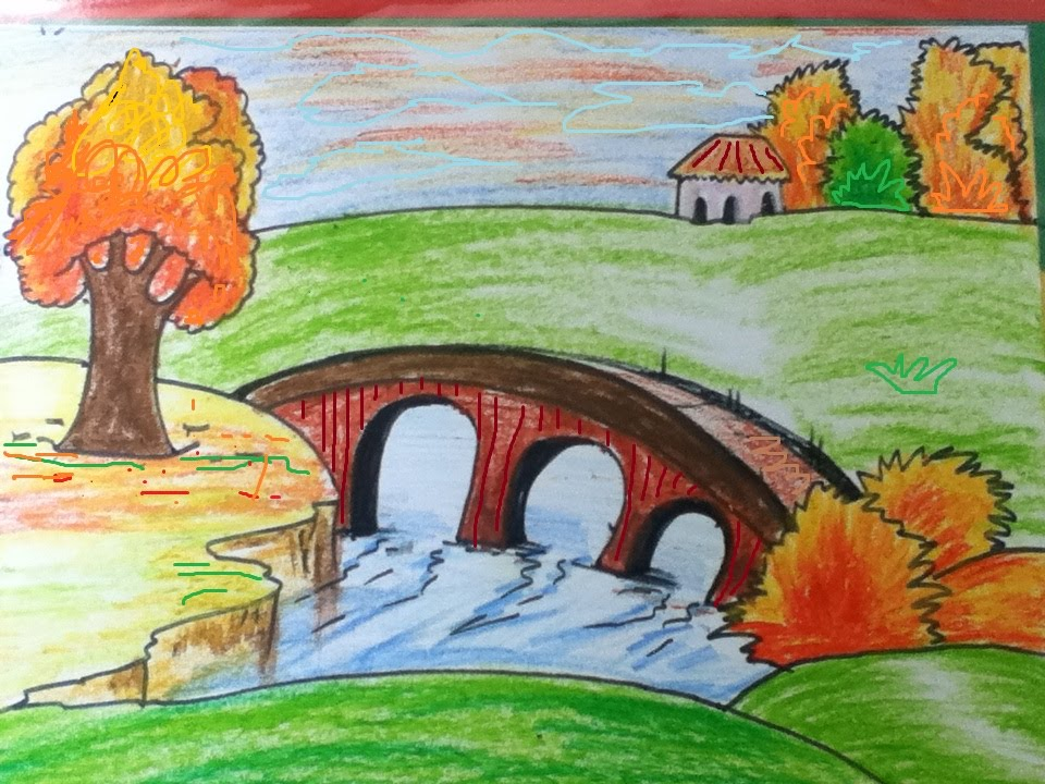Landscape Simple Drawing at GetDrawings | Free download