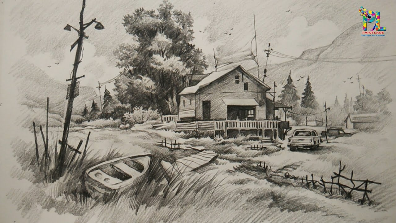 landscapes pencil drawing at getdrawings com free for personal use