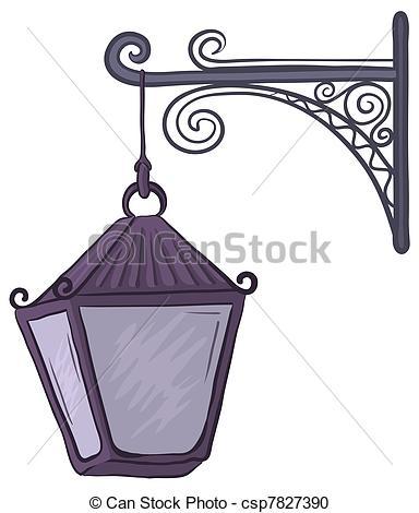 384x470 Antique Lantern. Vintage Nonluminous Street Lamp, Hanging