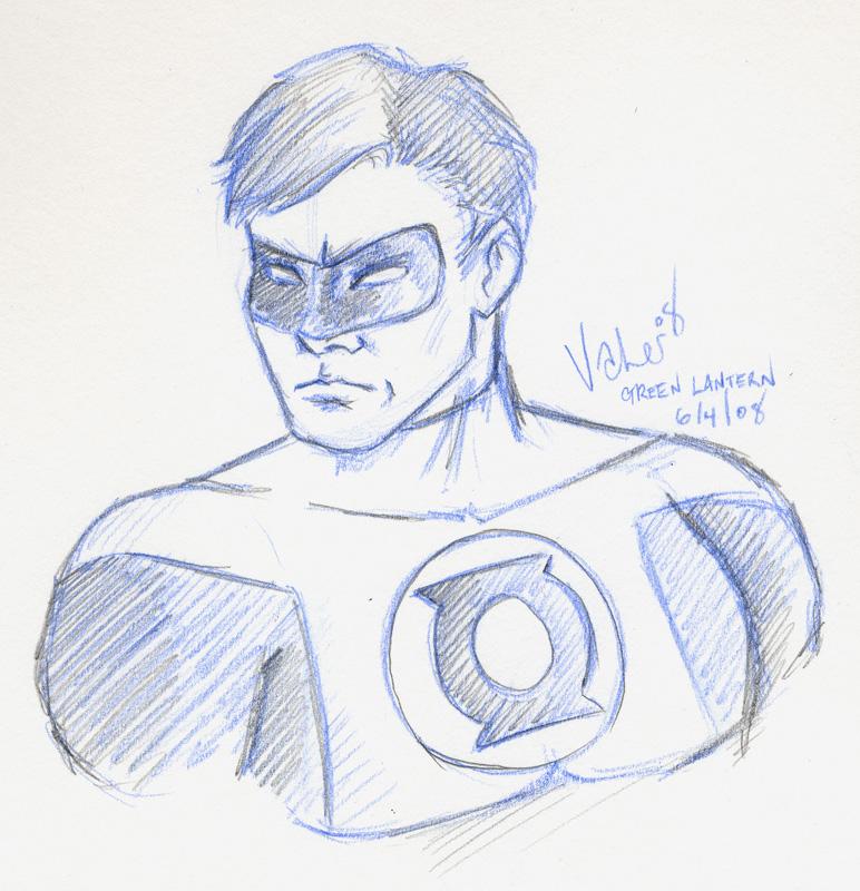 772x800 Green Lantern Sketch By Angiepk