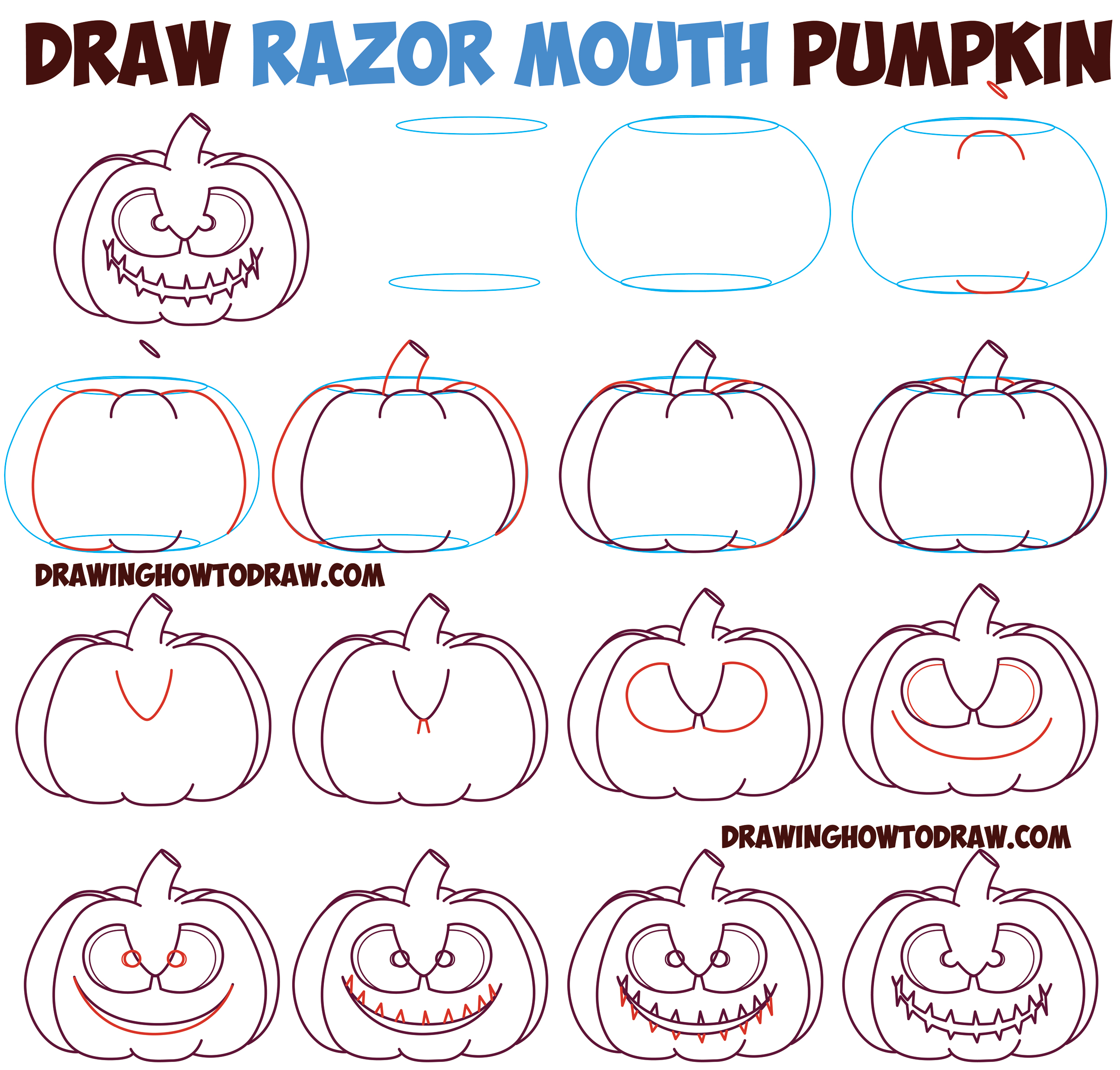 2500x2388 Huge Guide To Drawing Cartoon Pumpkin Faces Jack O'Lantern Faces