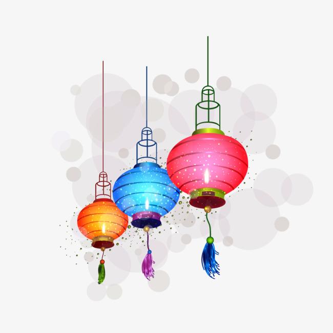 650x651 Vector Colored Lanterns, Lantern, Colored Lanterns, Drawing