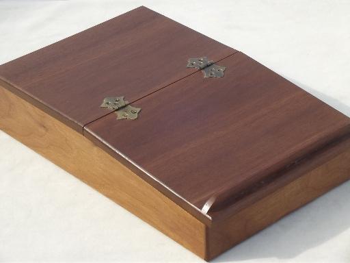 512x384 Hardwood Artist Box Lap Desk W Sloped Easel Writing Drawing Surface