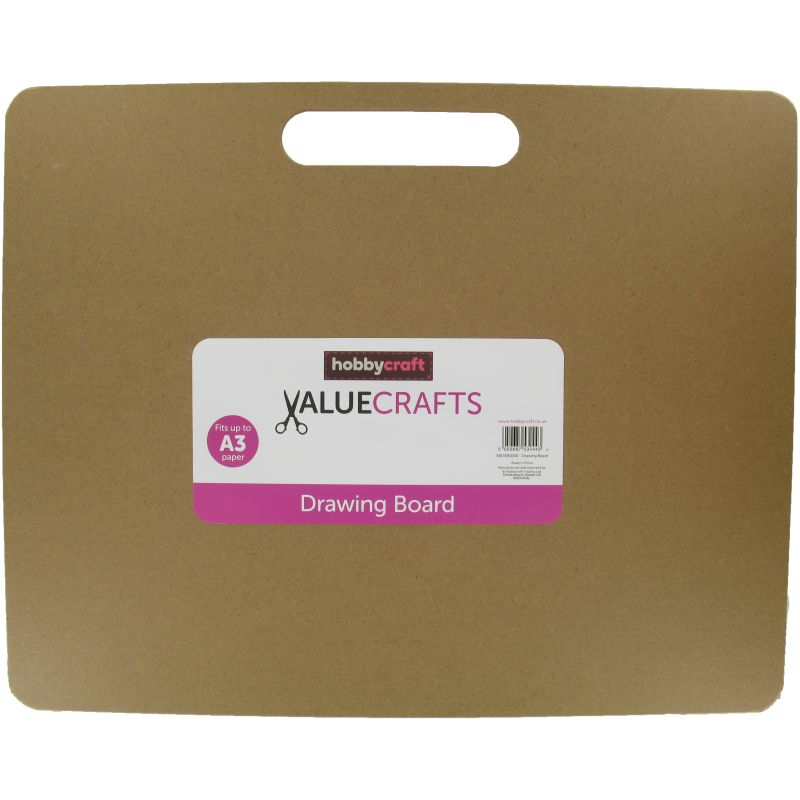 800x800 Drawing Board With Handle A3 Hobbycraft