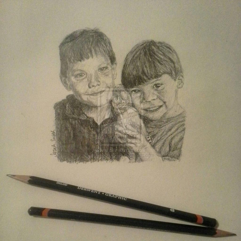 1024x1024 Baby Larry Manip Graphite Drawing By Sarsmithworld