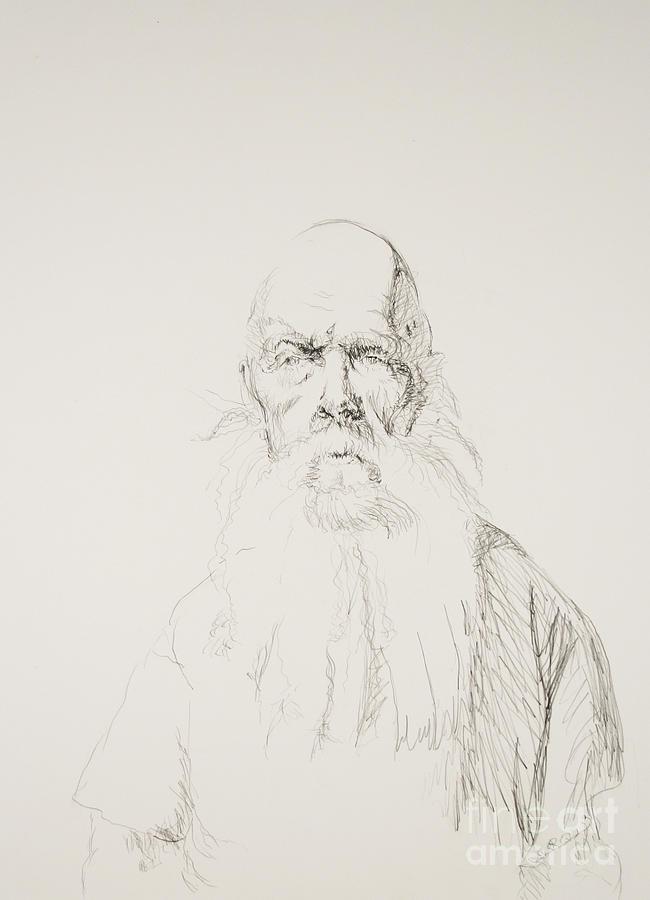 650x900 Larry Drawing By John Schneider