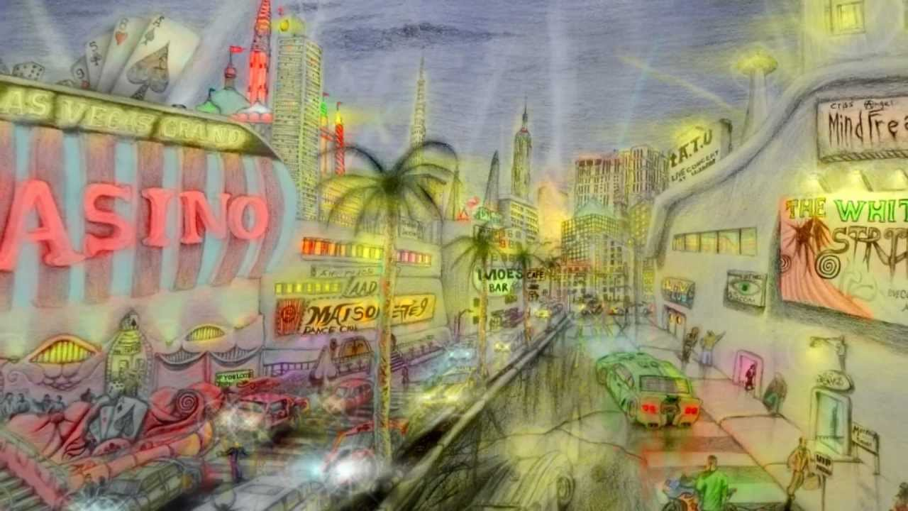 1280x720 Amazing Las Vegas Scene Drawing
