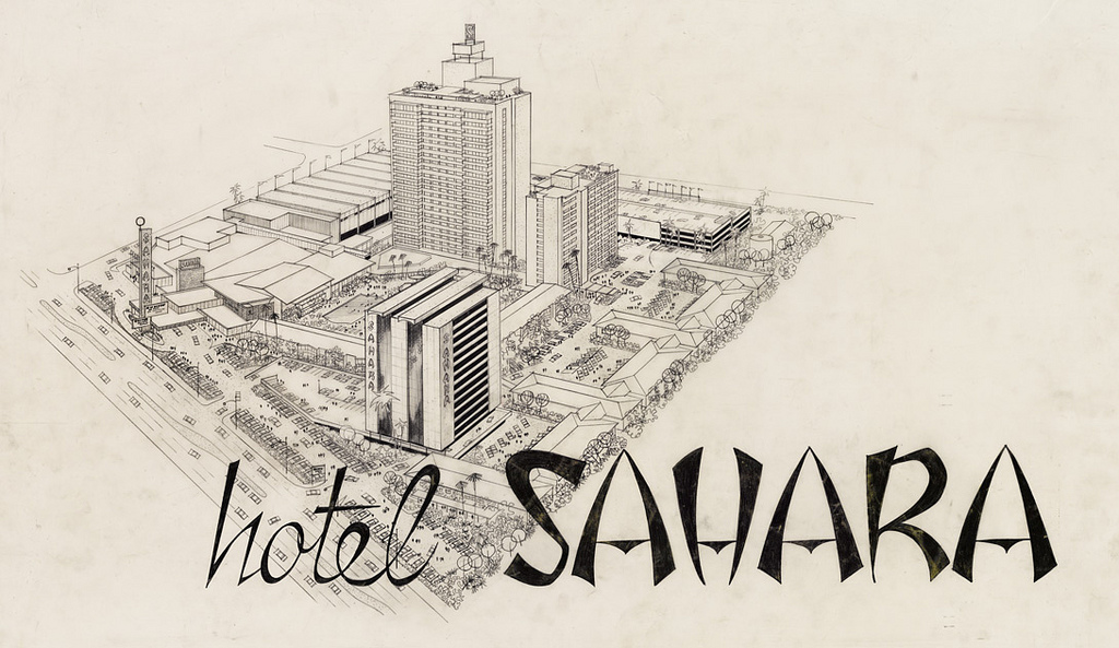 1024x593 Architectural Drawing Of Sahara Hotel Convention Center,