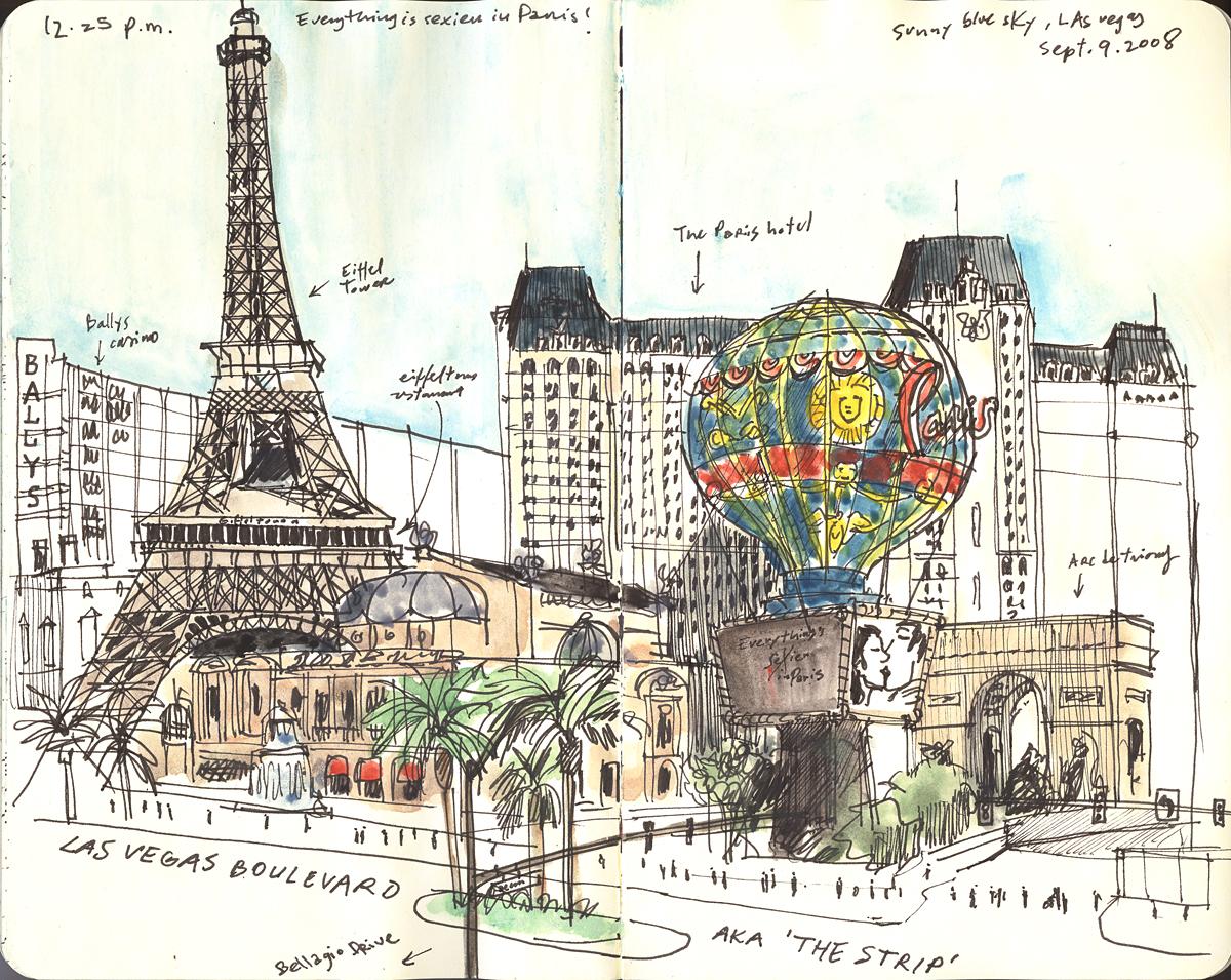 1200x955 Viva Las Vegas! Urban Sketchers