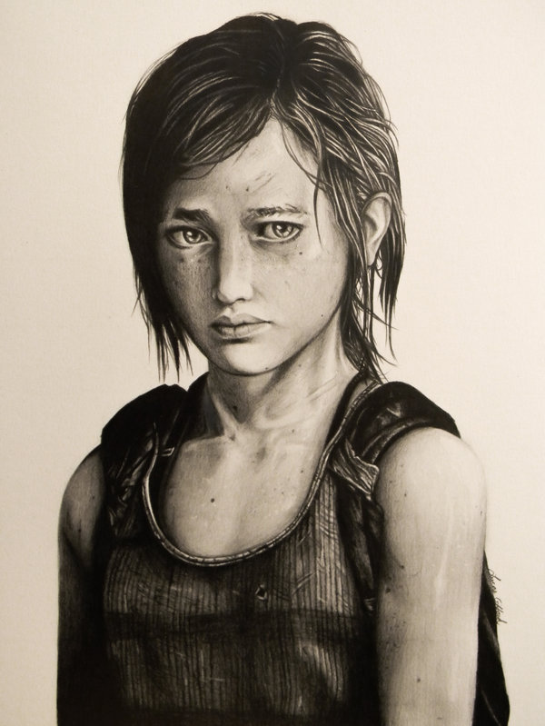 600x799 Drawing Of Ellie From The Last Of Us By Myawho