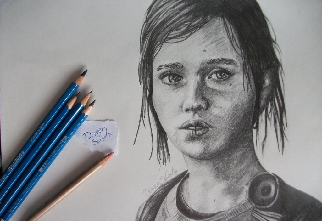 1024x702 Ellie (The Last Of Us) Quick Pencil Drawing By Gd Doreen Bj