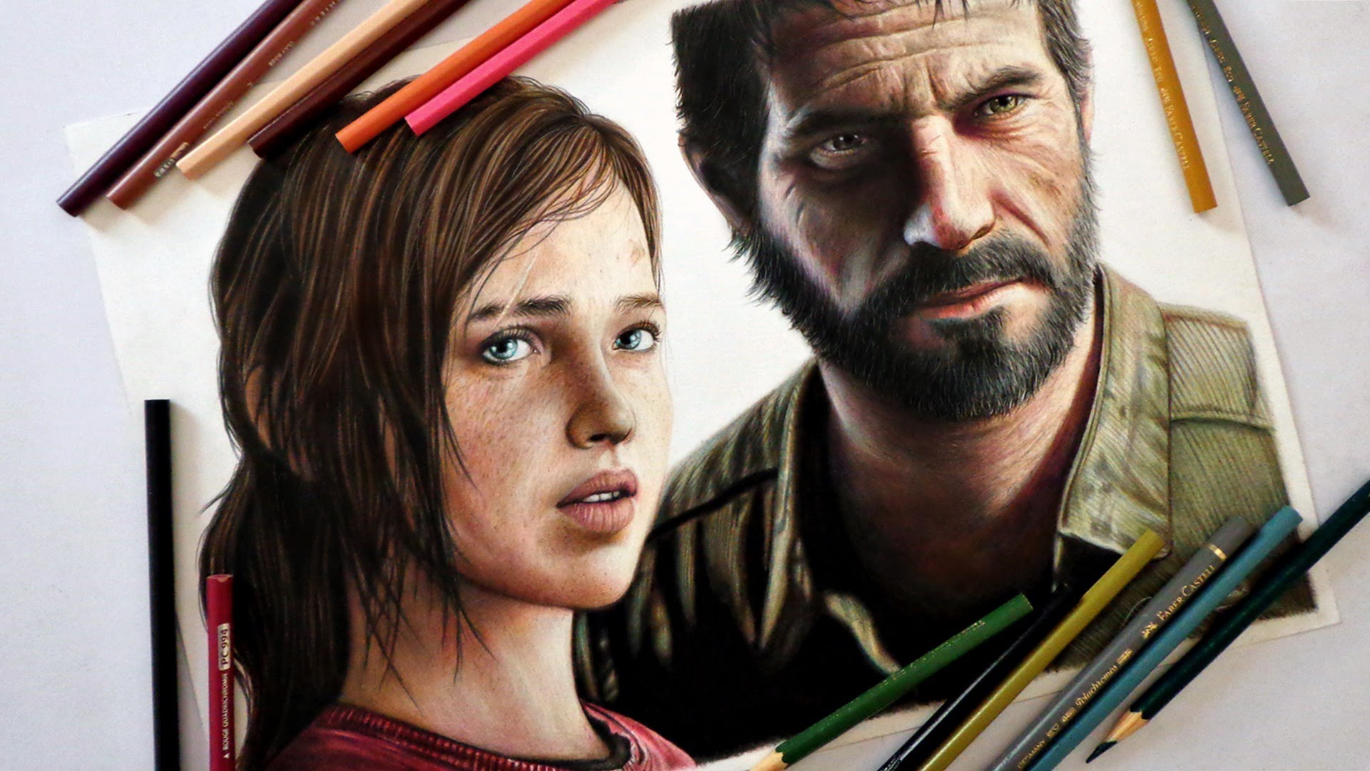 1920x1081 Speed Drawing Ellie And Joel (The Last Of Us)