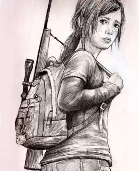 483x594 The Last Of Us Ellie Drawing By Sleeportap