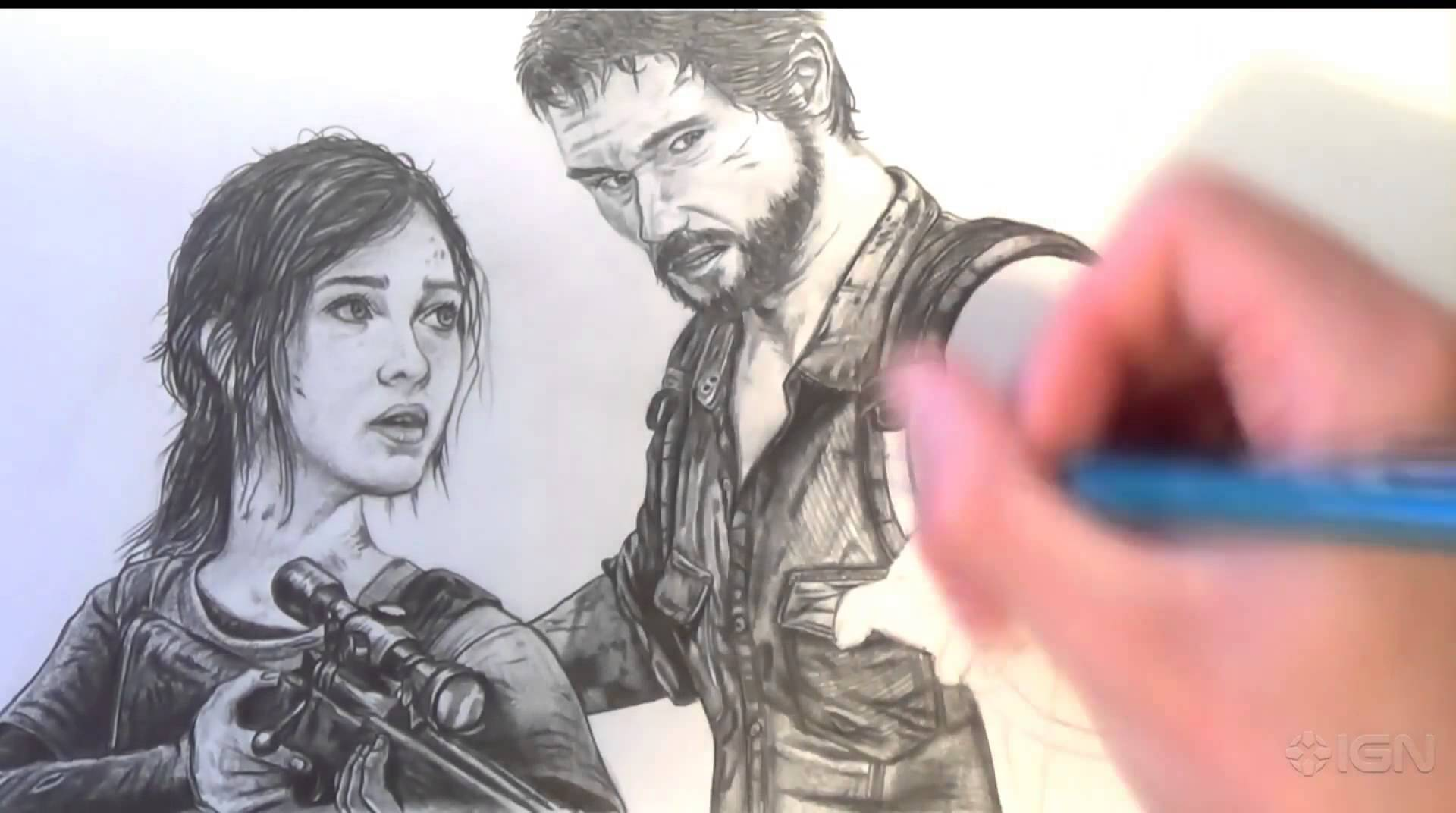 1920x1072 The Last Of Us Drawing