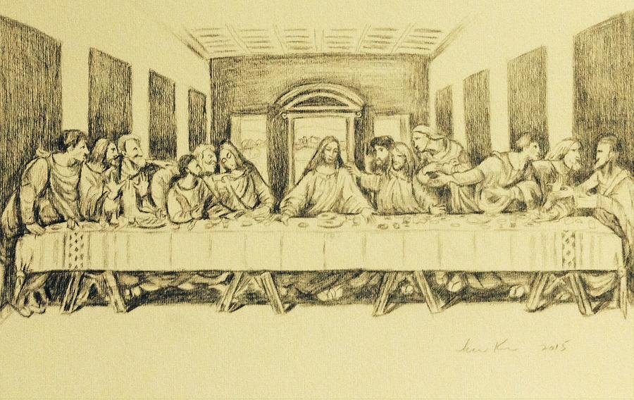 900x568 Last Supper 2015 Drawing By Hae Kim