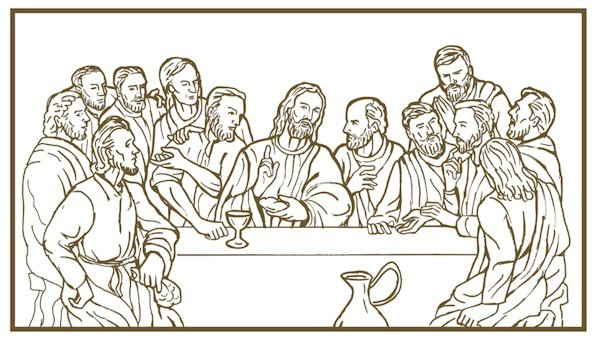 Last Supper Drawing at GetDrawings.com | Free for personal ... Da Vinci Last Supper Coloring Pages