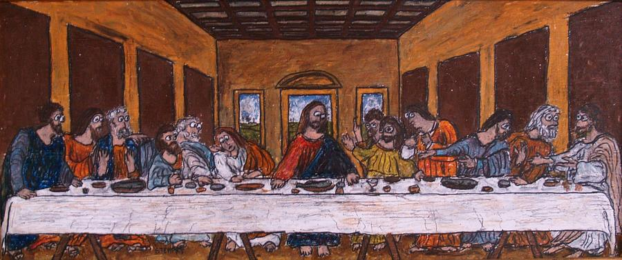 900x377 The Last Supper After Da Vinci Drawing By Jacob Stempky