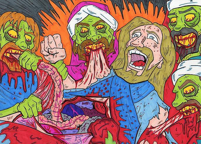 681x490 The Last Supper Drawing By Anthony Snyder