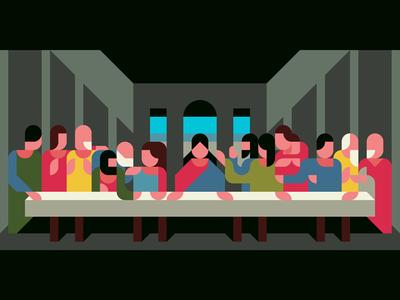 400x300 The Last Supper With A Drawing App By Tomoyuki Kurosawa