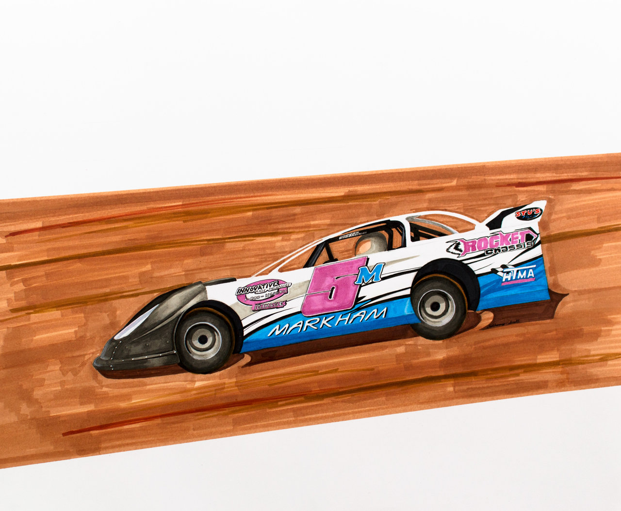 1280x1054 Model Dirt Track Car By Anths95