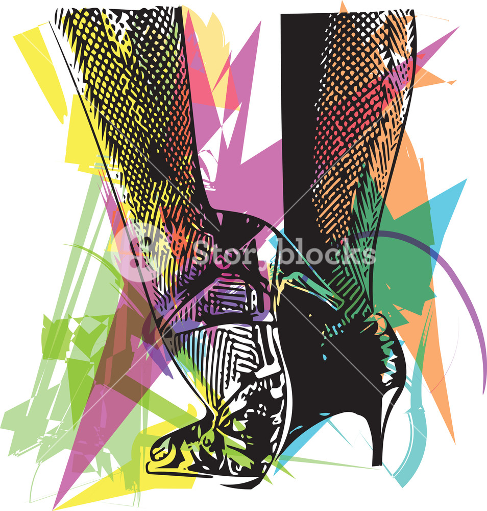 954x1000 Drawing Of Female Ballroom Shoes, Sport Dance, Latin And Salsa
