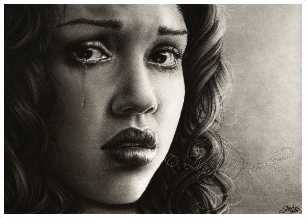 1028x731 Jessica Alba (Latin Actress) Drawing Of Tears Pictures, Photos