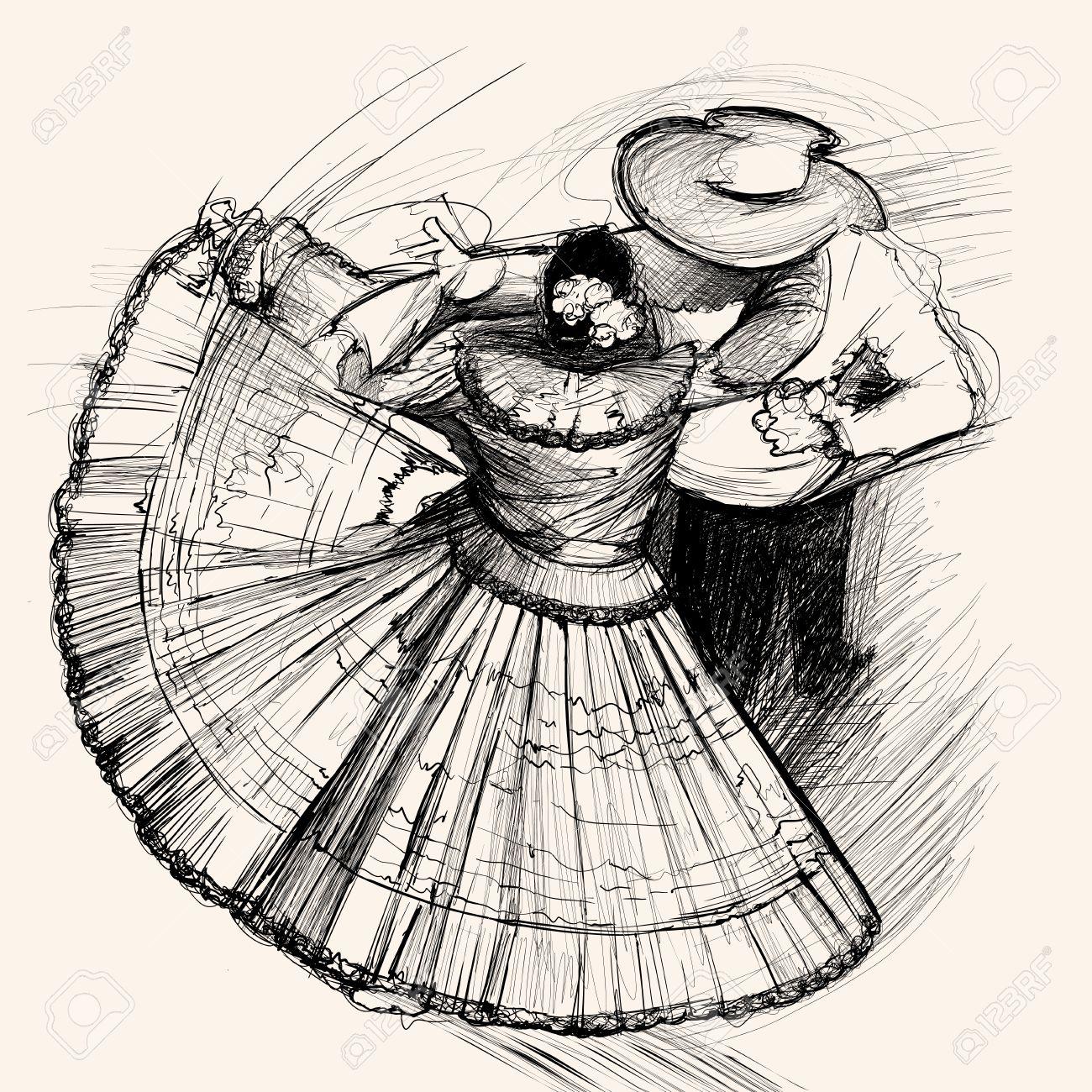 1300x1300 Illustration Of A Latino Dance Royalty Free Cliparts, Vectors,