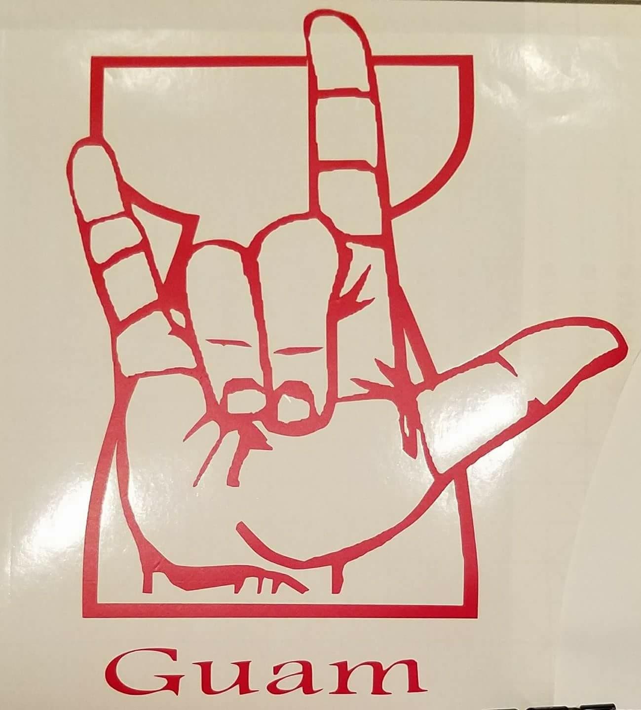 1299x1440 New Guam Latte Stone Design Stickers Guam Deaf ILU Design