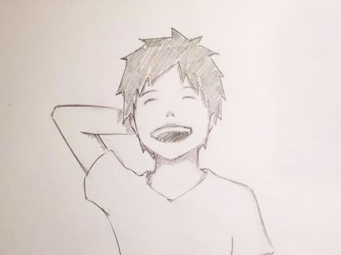 480x360 Drawing An Anime Boy Laughing (Timelapse)