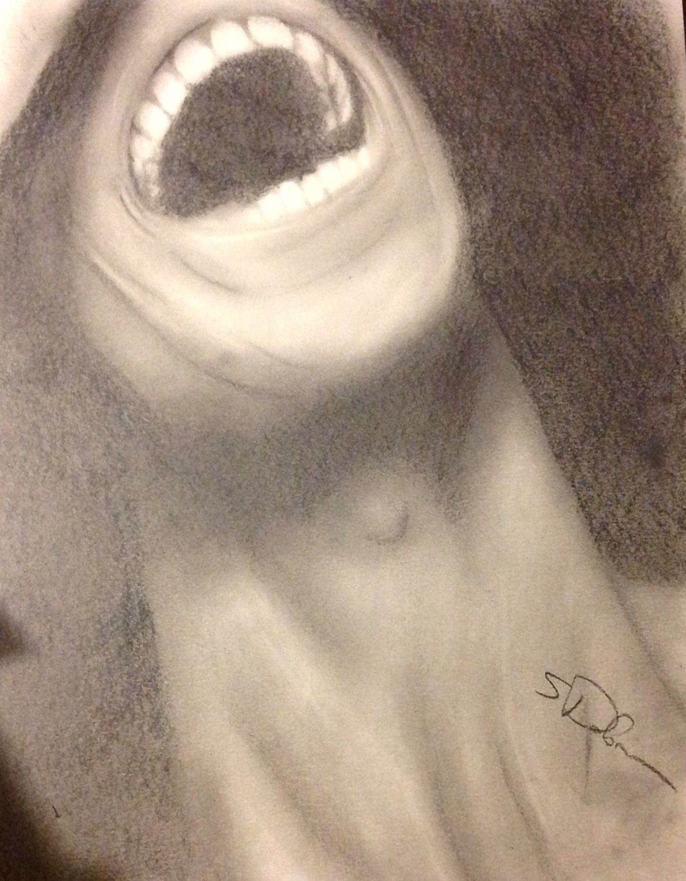 1405x1804 Graphite Pencil Sketch Drawing Of Laughing Happy Man, Art, Mouth
