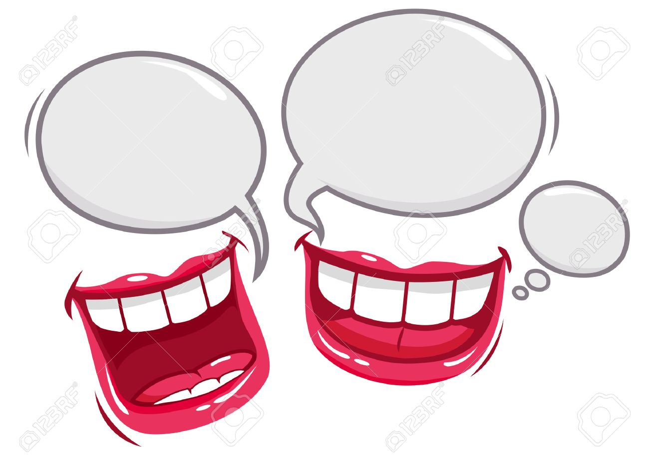 1300x918 Two Mouths Talking And Laughing Royalty Free Cliparts, Vectors