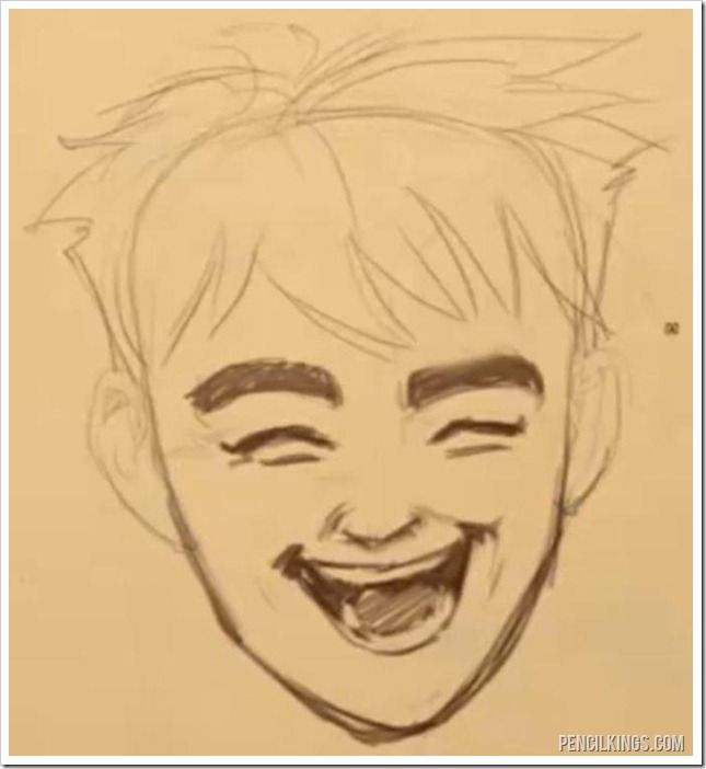 645x702 Draw A Realistic Mouth Laughing Open Mouth With Teeth Drawing