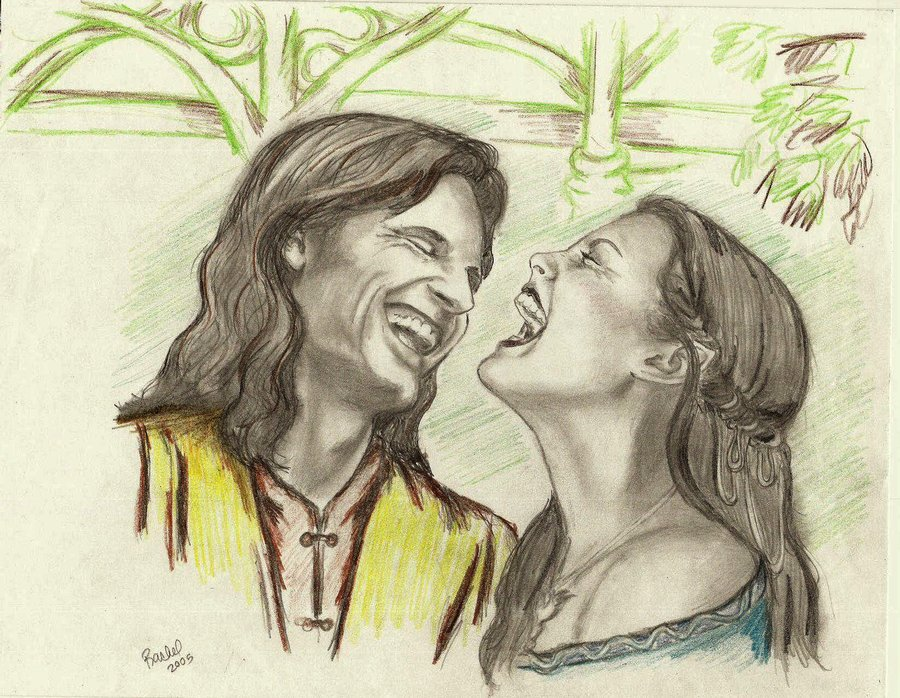 900x698 Aragorn And Arwen Laughter By Rstrider9