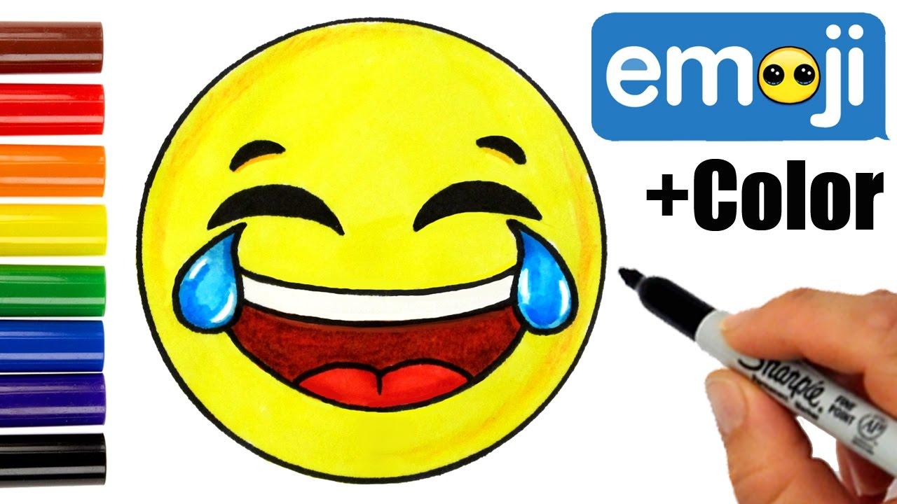 1280x720 How To Draw Laughing Tears Of Joy Emoji Easy