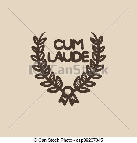 450x470 Laurel Wreath Sketch Icon. Laurel Wreath Vector Sketch Icon Eps