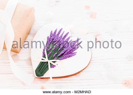 450x320 Lavender Gift Box Stock Photo 85265341